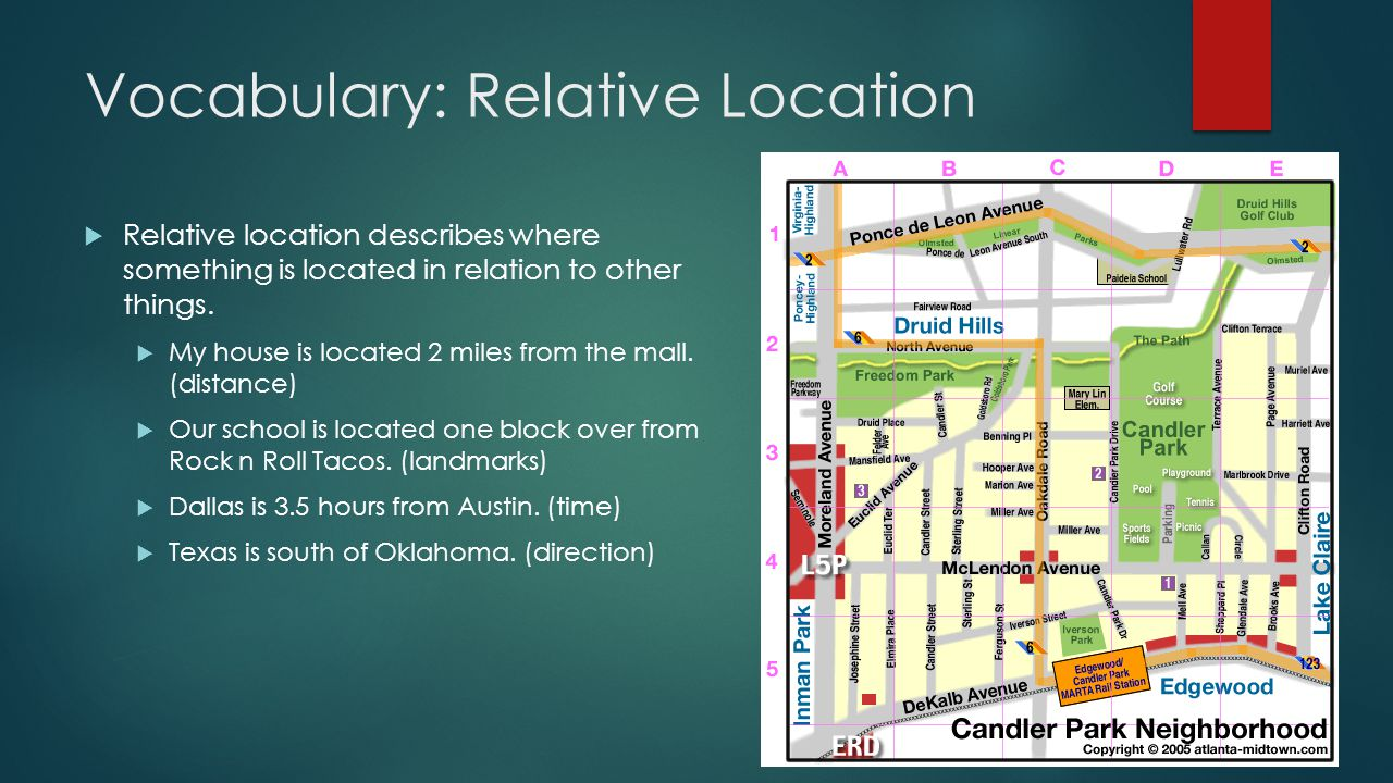 Vocabulary: Relative Location