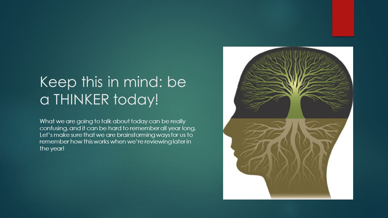Keep this in mind: be a THINKER today!