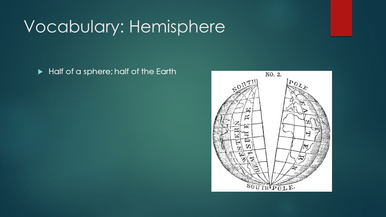 Vocabulary: Hemisphere
