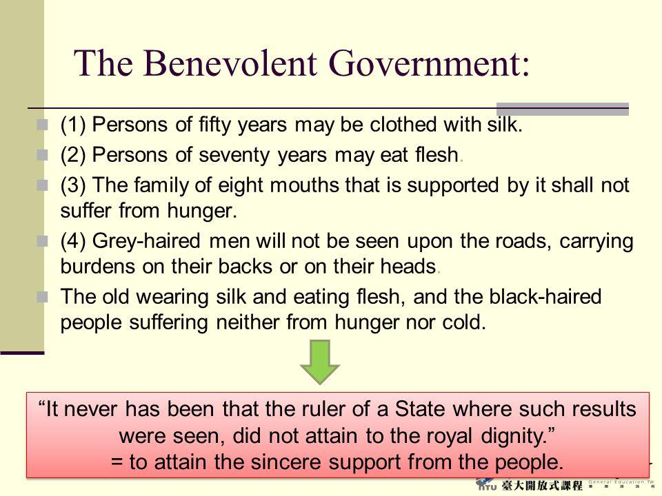 The Benevolent Government: