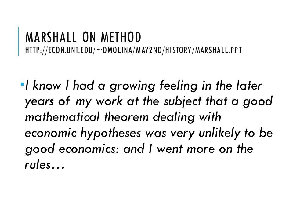 Marshall on Method http://econ. unt