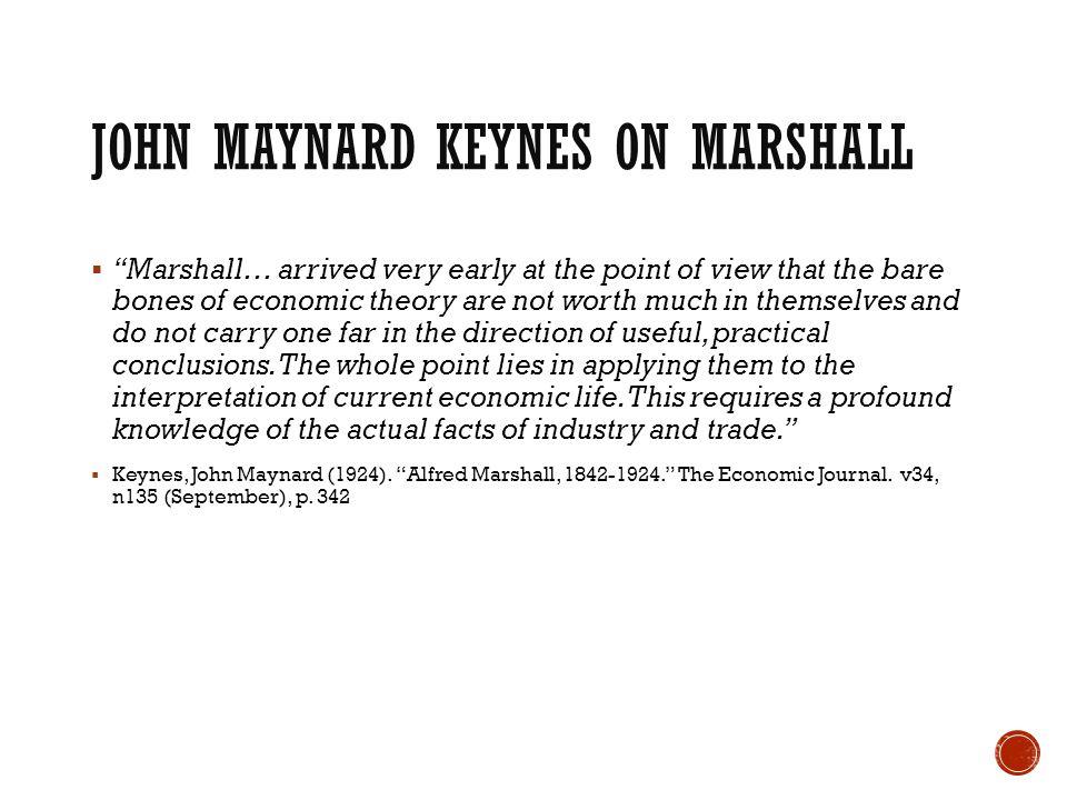 John Maynard Keynes on Marshall
