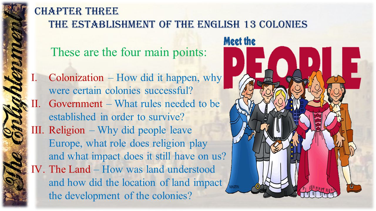 These are the four main points: