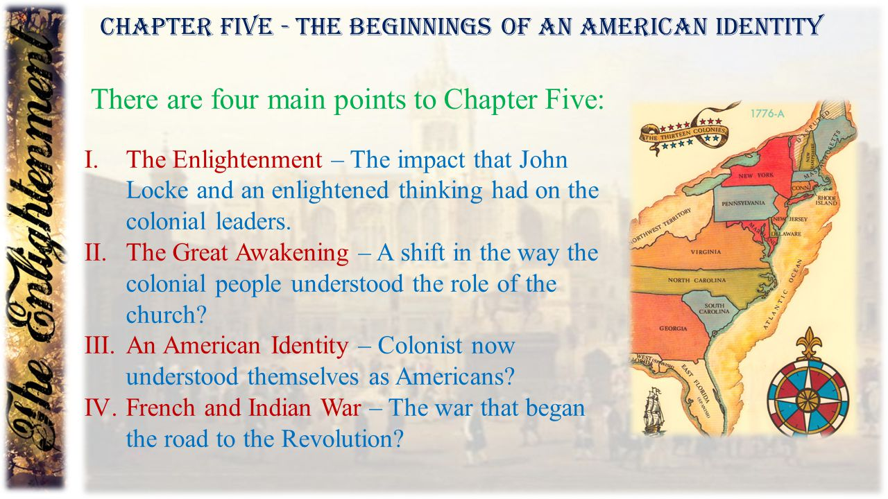There are four main points to Chapter Five: