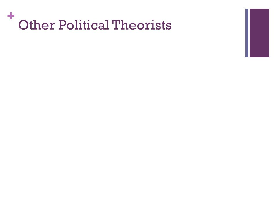 Other Political Theorists
