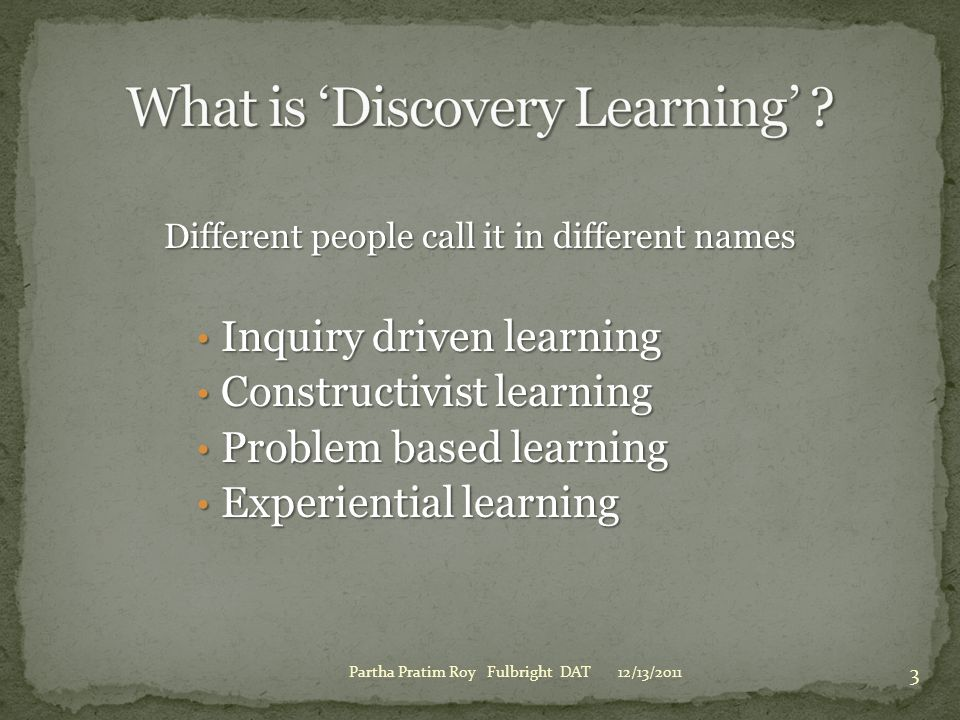 What is 'Discovery Learning'