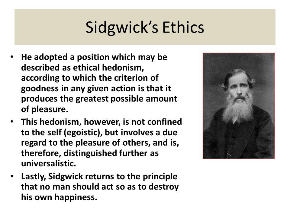 Sidgwick's Ethics