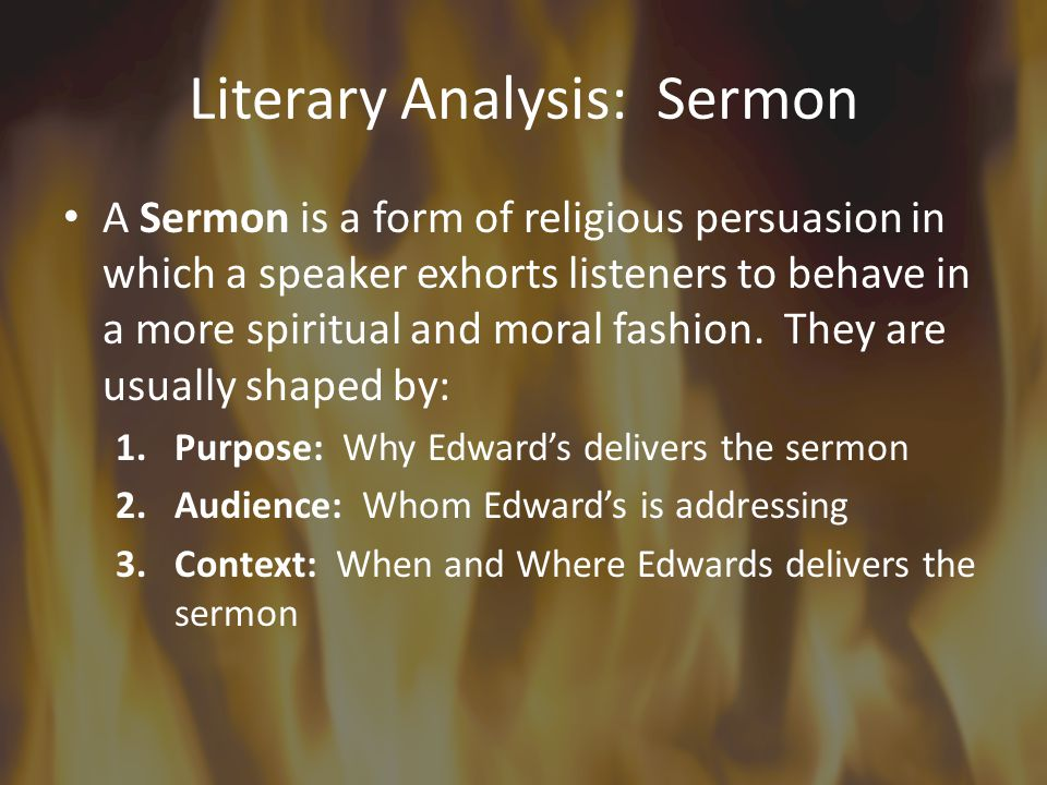 Literary Analysis: Sermon