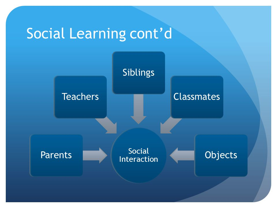 Social Learning cont'd