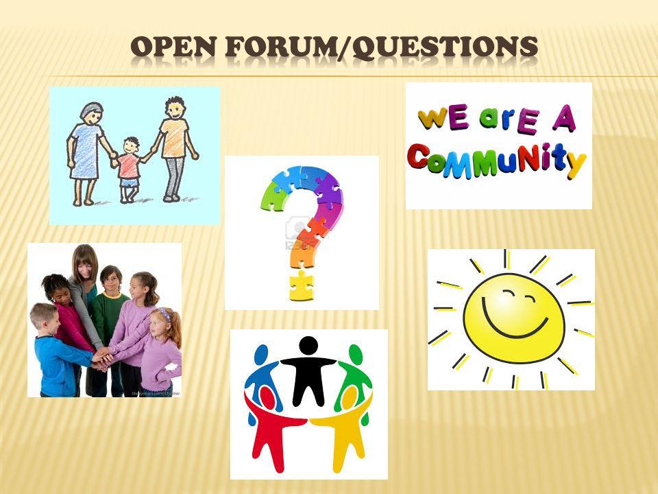 Open Forum/Questions