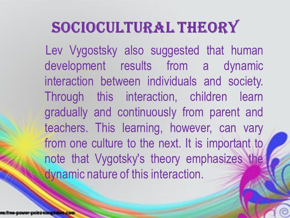 the application of vygotskys approach to child development to education today essay Egocentric speech is more intellectual and children use this by speaking out loud  to themselves  both piaget's and vygotsky's theories of cognitive development   has a different approach when dealing with children and education  -and-lev -vygotskys-theories-on-cognitive-education-essayphpvref=1.