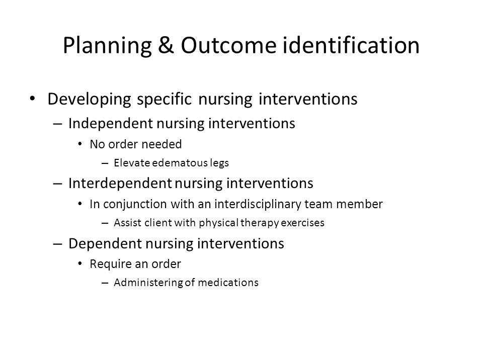 Planning & Outcome identification