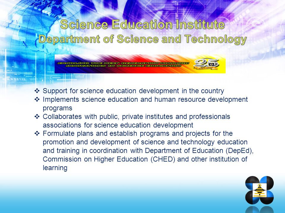 Science Education Institute Department of Science and Technology