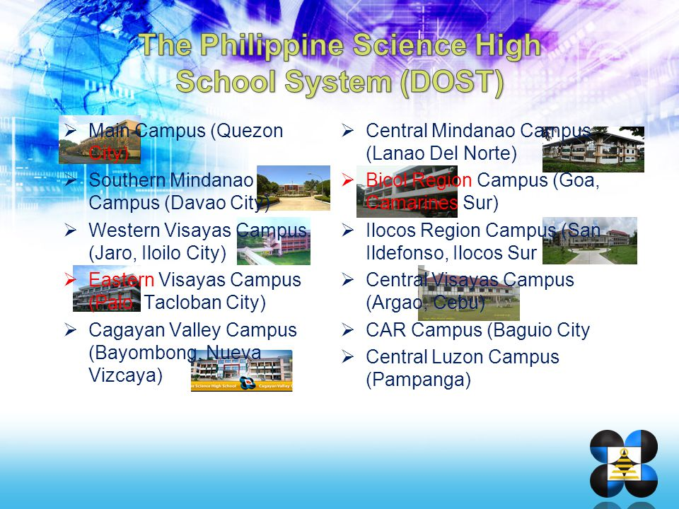 The Philippine Science High School System (DOST)