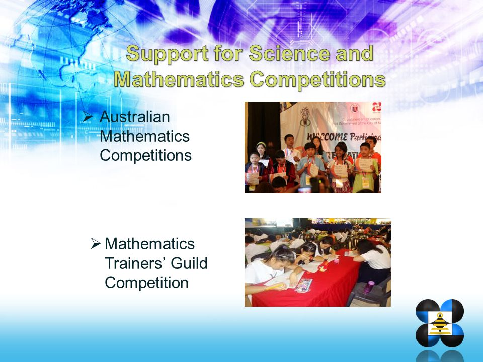 Support for Science and Mathematics Competitions