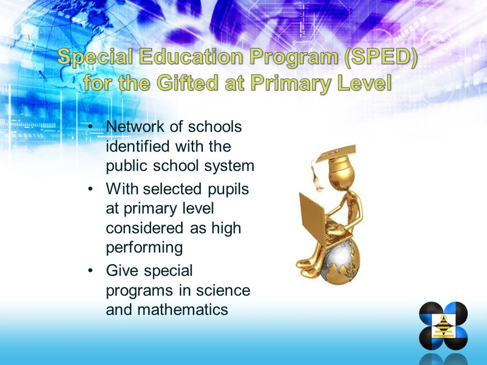 Special Education Program (SPED) for the Gifted at Primary Level