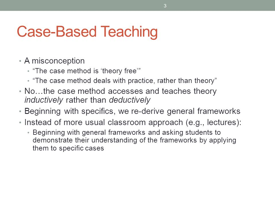 Case-Based Teaching A misconception