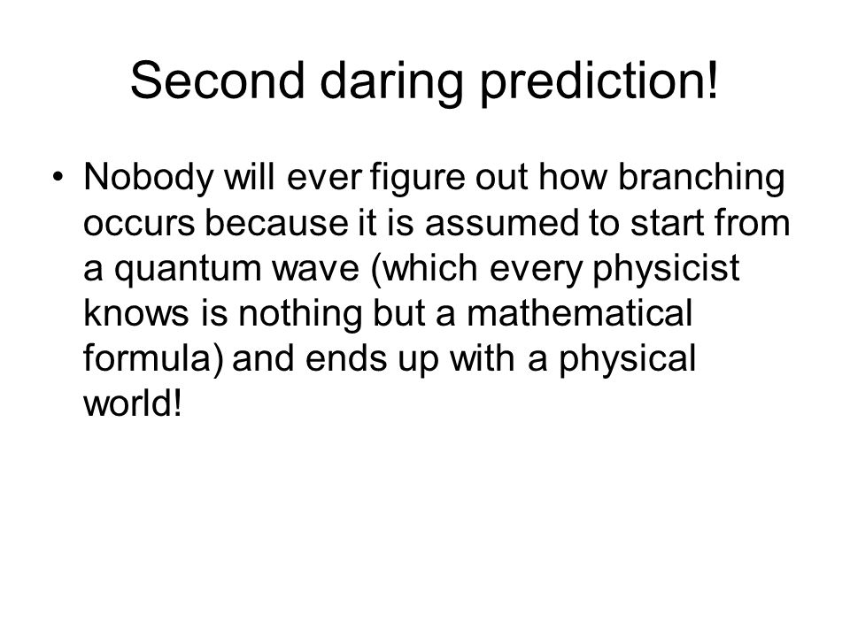 Second daring prediction!