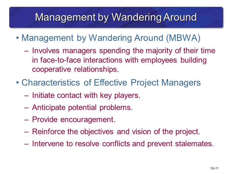 Management by Wandering Around