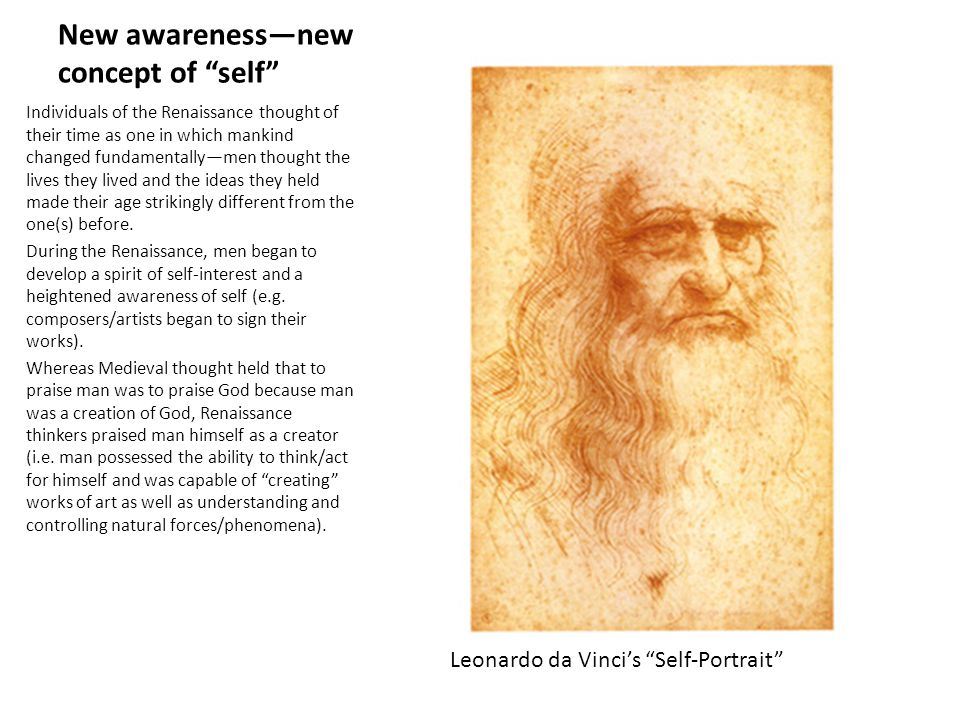 New awareness—new concept of self