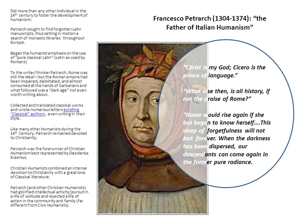 Francesco Petrarch (1304-1374): the Father of Italian Humanism