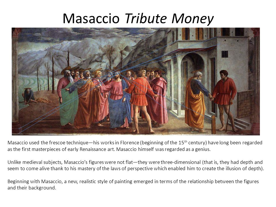 Masaccio Tribute Money