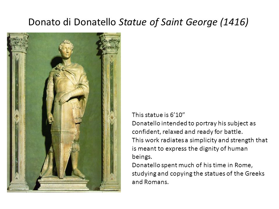 Donato di Donatello Statue of Saint George (1416)