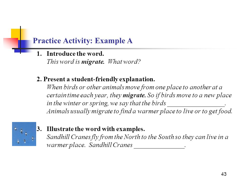 Practice Activity: Example A