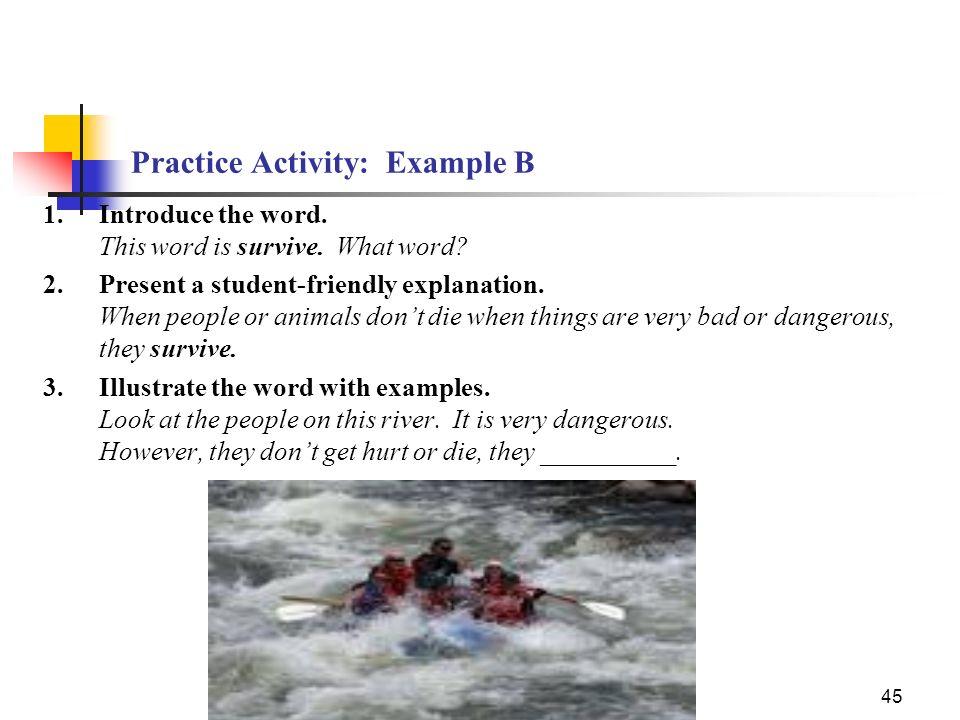 Practice Activity: Example B