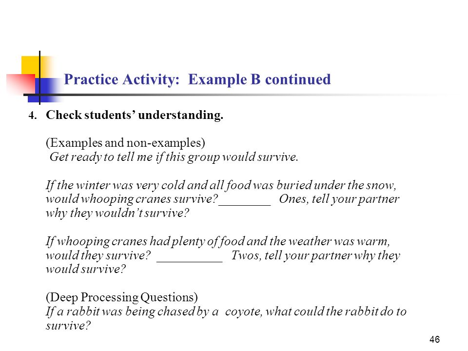 Practice Activity: Example B continued