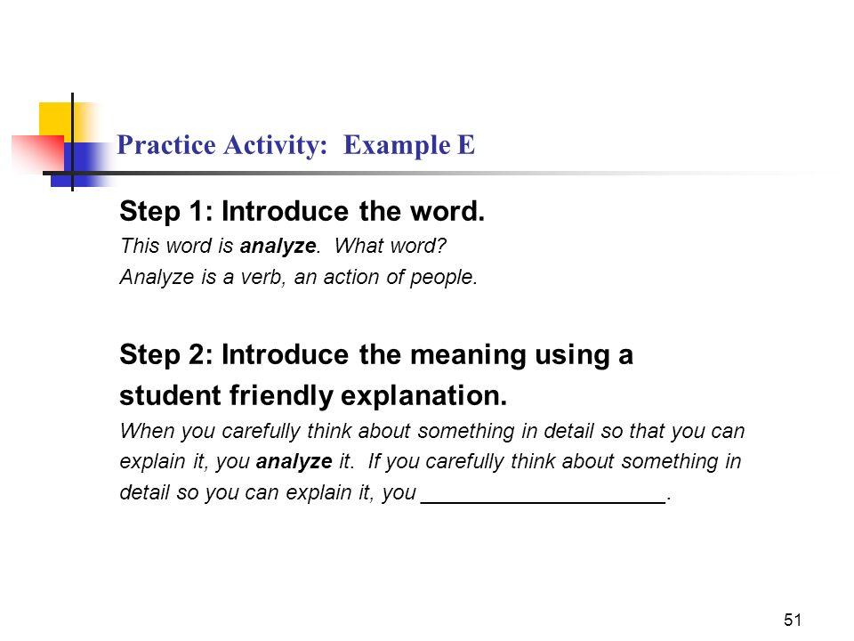 Practice Activity: Example E