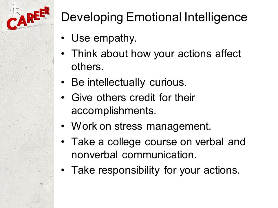 Developing Emotional Intelligence