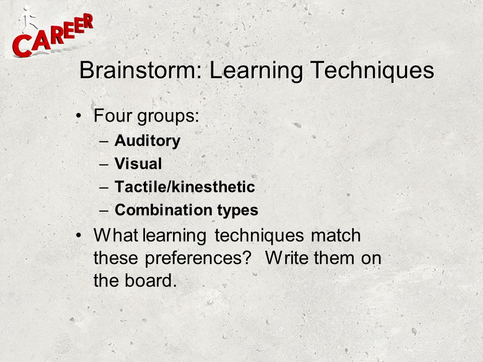 Brainstorm: Learning Techniques
