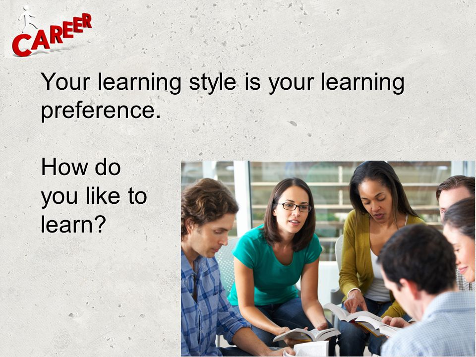 Your learning style is your learning preference