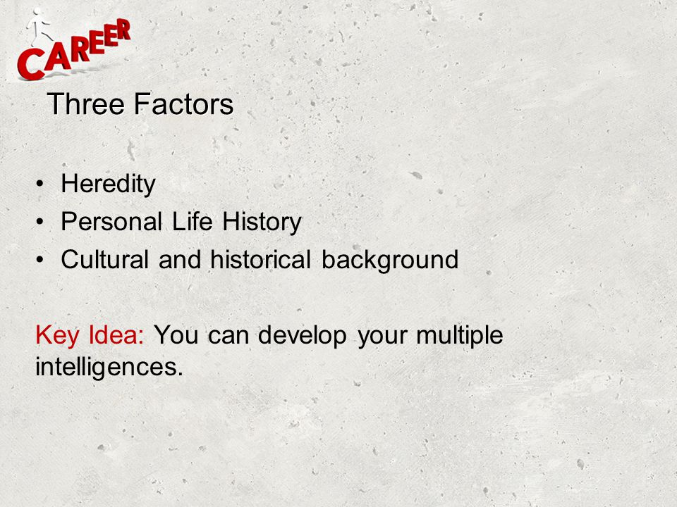 Three Factors Heredity Personal Life History