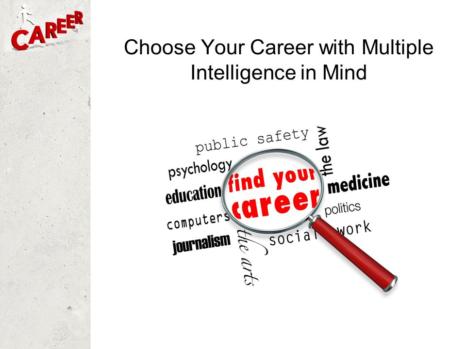 Choose Your Career with Multiple Intelligence in Mind