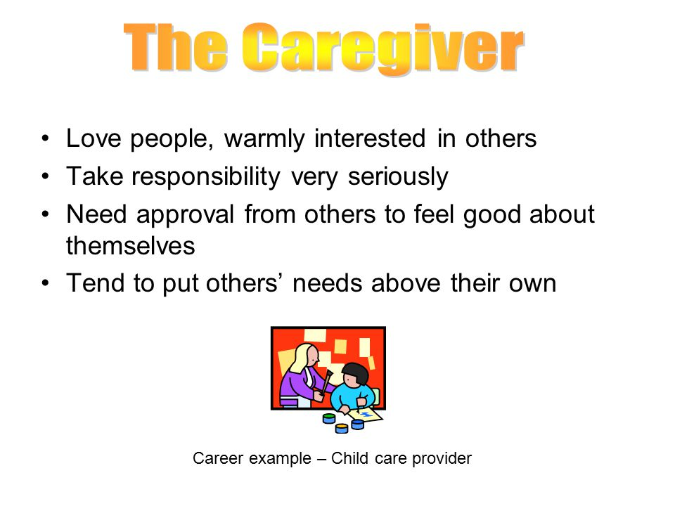 The Caregiver Love people, warmly interested in others