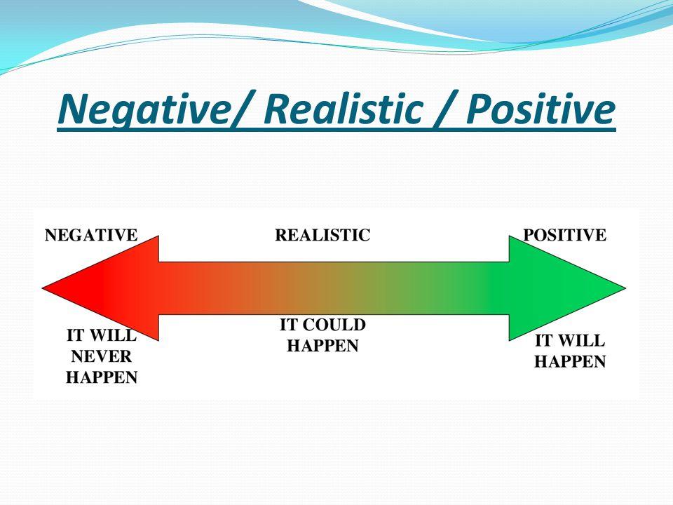 Negative/ Realistic / Positive