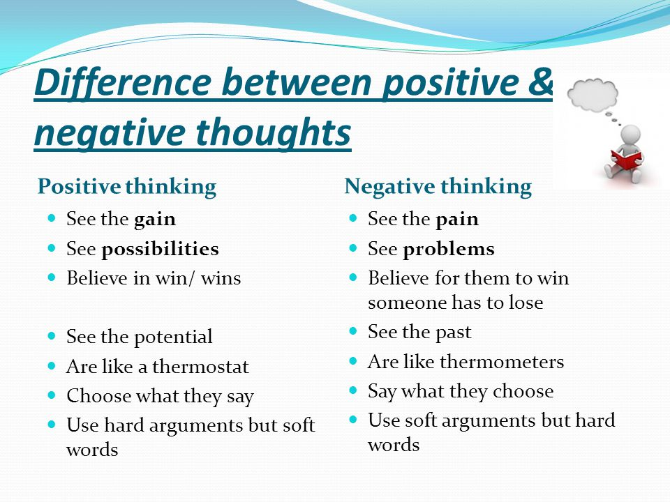 Difference between positive & negative thoughts