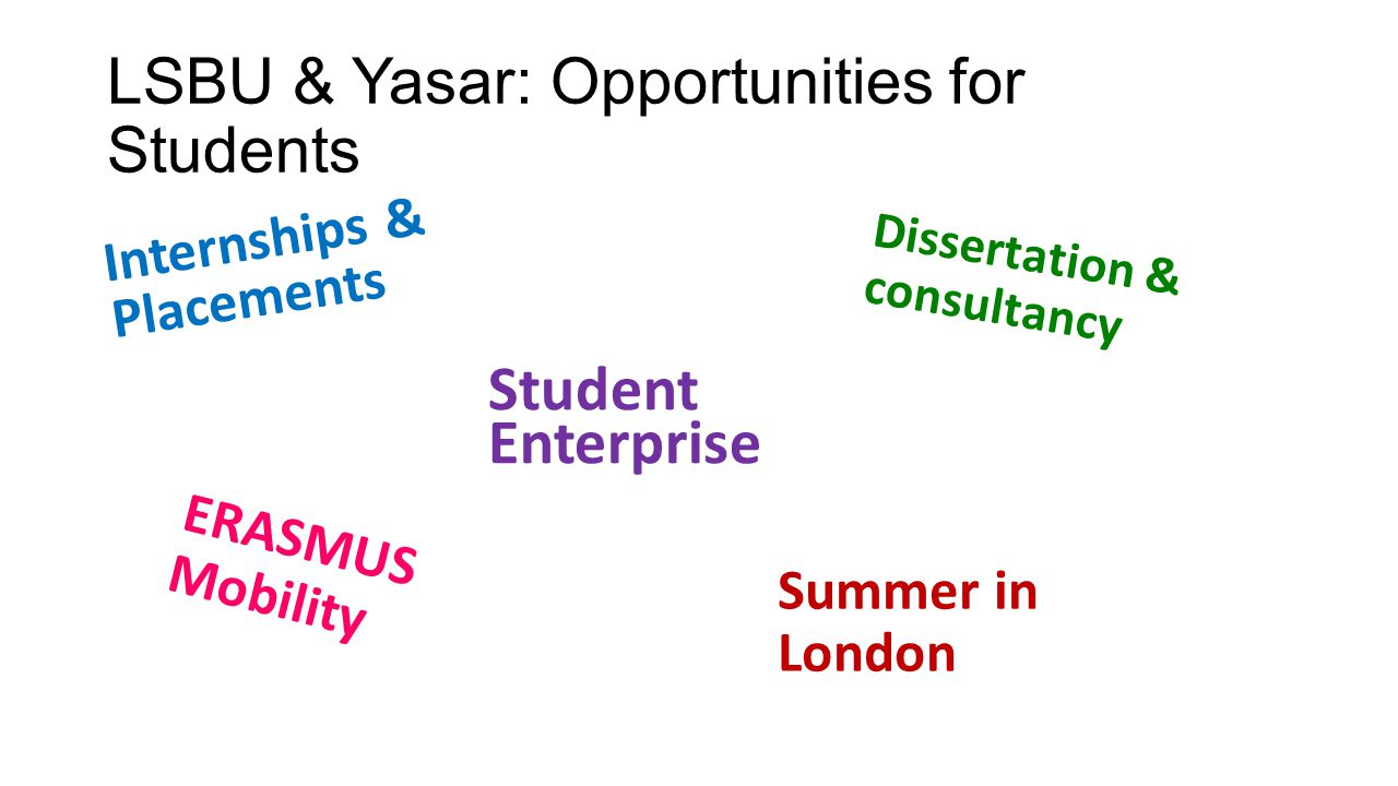 LSBU & Yasar: Opportunities for Students