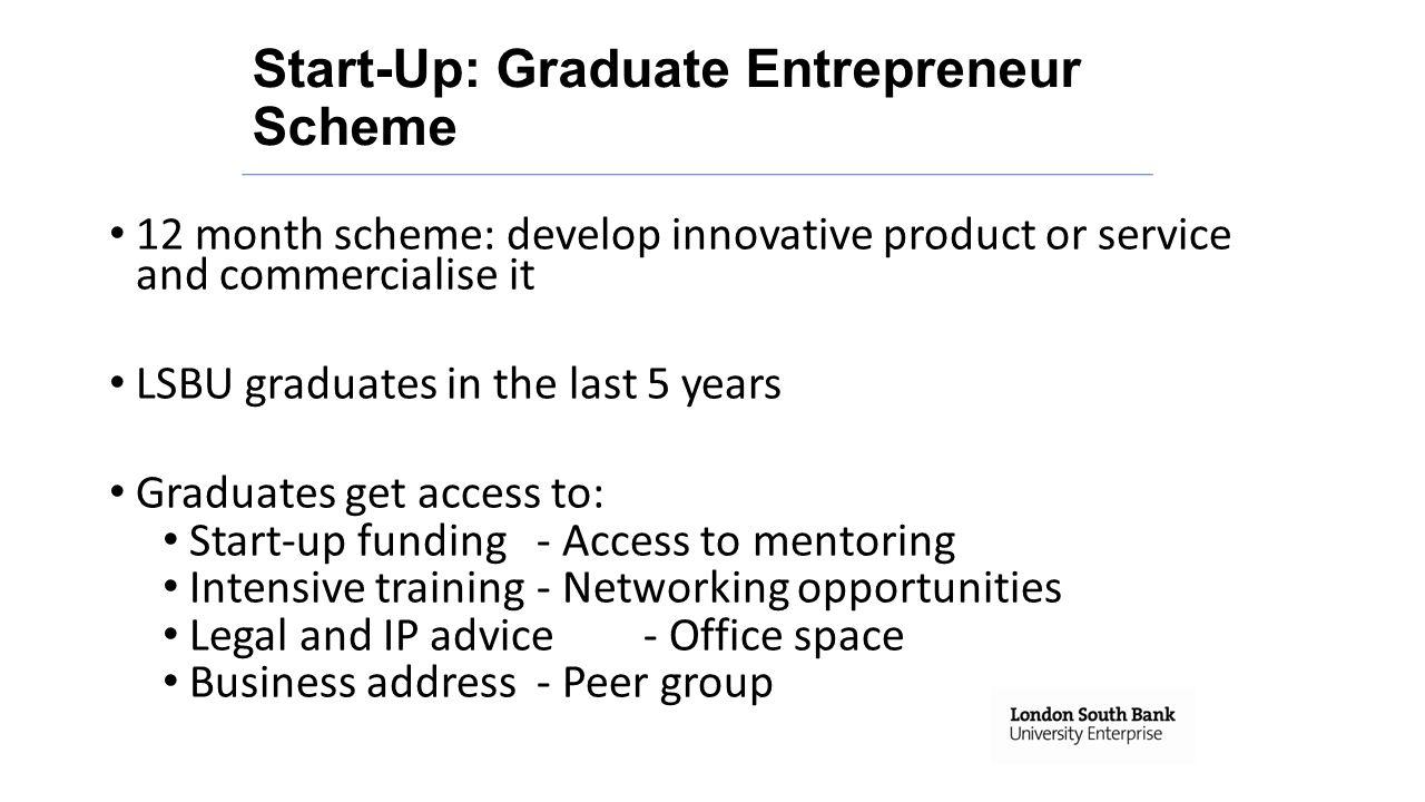 Start-Up: Graduate Entrepreneur Scheme