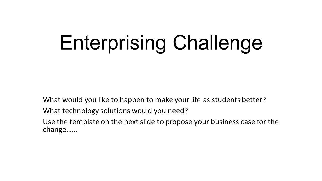 Enterprising Challenge