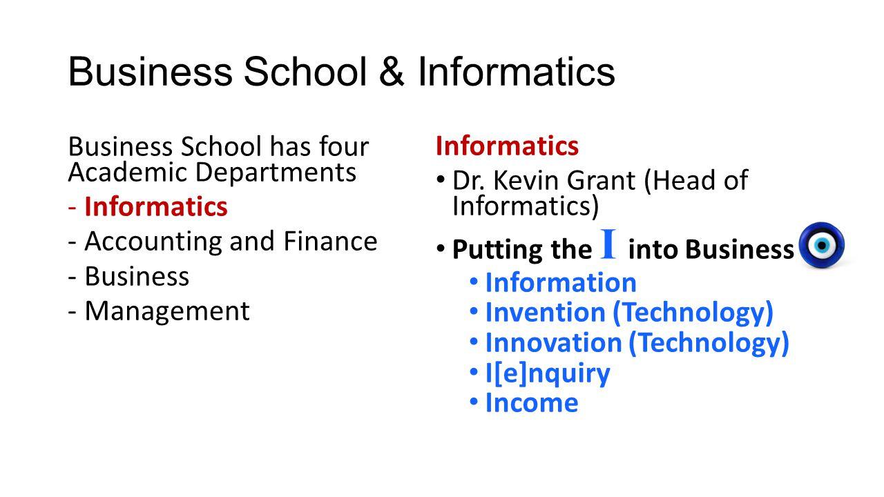 Business School & Informatics