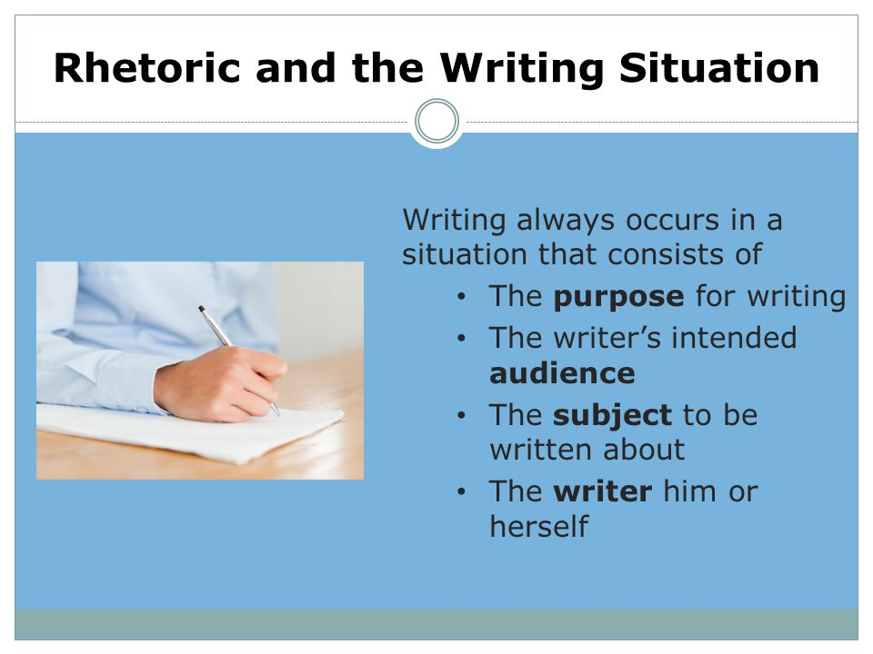 Rhetoric and the Writing Situation