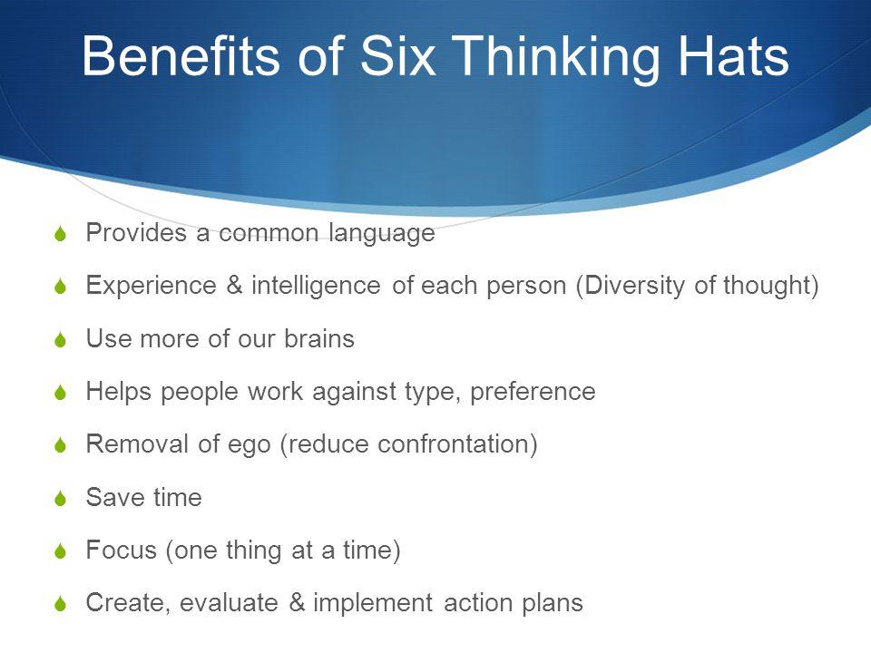 Benefits of Six Thinking Hats