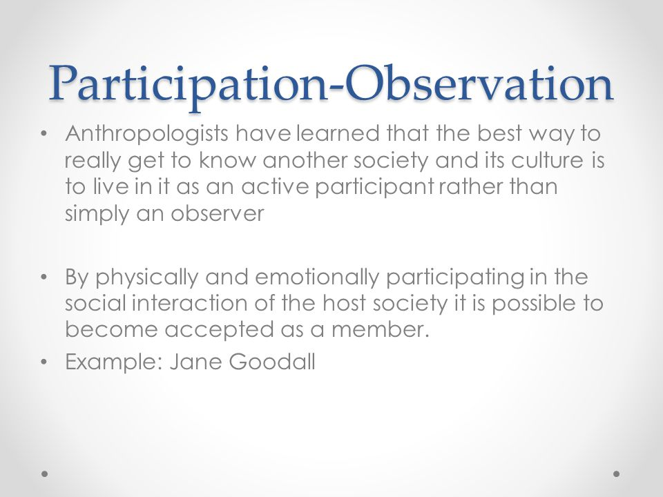 Participation-Observation
