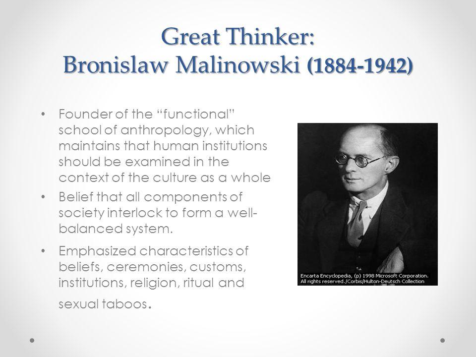 Great Thinker: Bronislaw Malinowski (1884-1942)