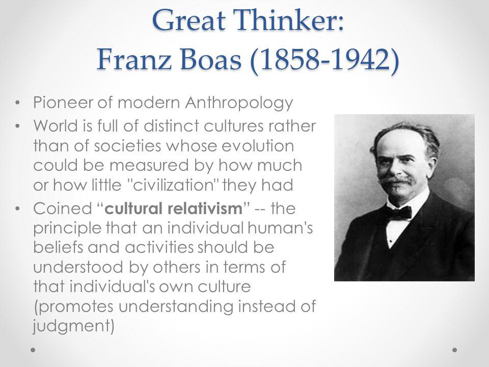 Great Thinker: Franz Boas (1858-1942)