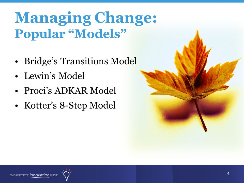 Managing Change: Popular Models