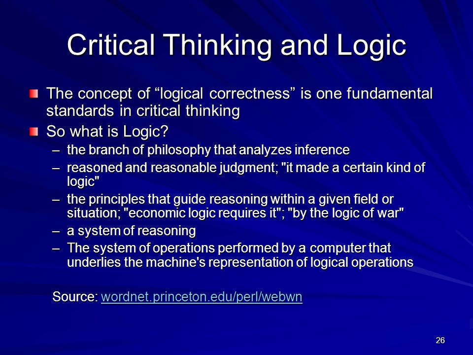 "critical thinking on logical issues Facione, pa, ""critical thinking: what it is and why it counts "" 2011 update page 4 now, consider the example of the team of people trying to solve a problem."